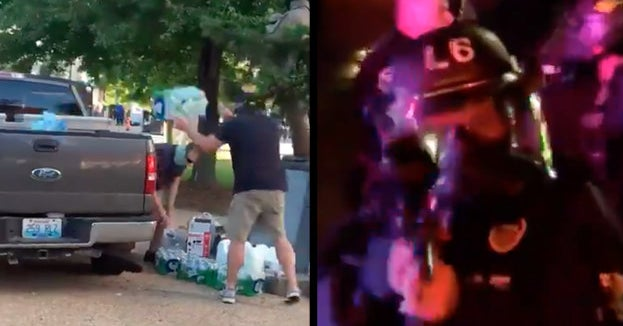 15 Unpeaceful Things Police Were Filmed Doing During The Weekend's Protests