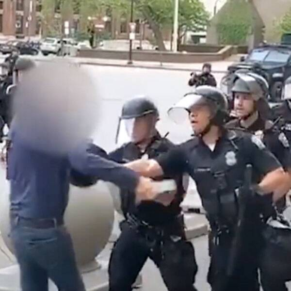 2 Police Officers Plead Not Guilty to Assault Charges for Shoving Man