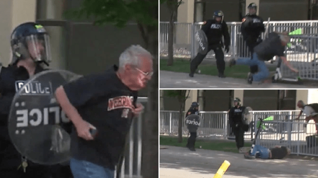 Cops filmed shoving elderly man to the ground amid George Floyd protests