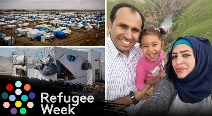 Refugee Week: Hadiya and Shadi Ahmed, from Syria, who live in a refugee camp close to Erbil, in the Kurdistan Region of Iraq.