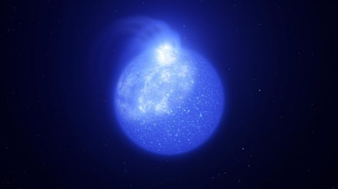 Star Plagued by Giant Magnetic Spot