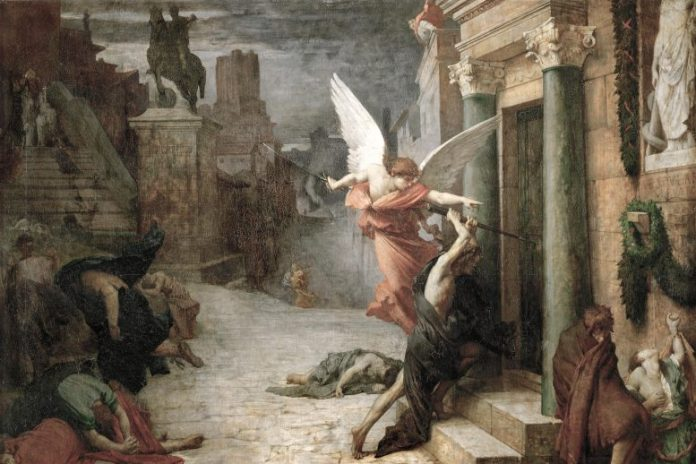 Jules Elie Delaunay Plague in Rome