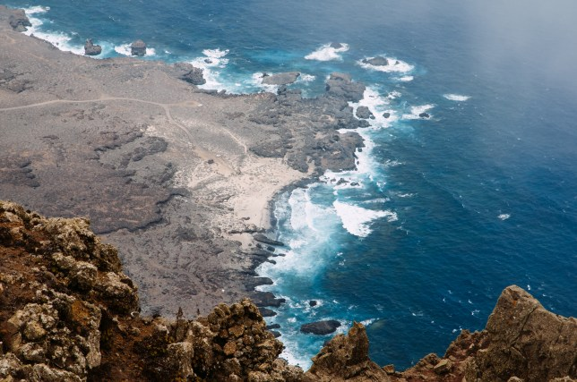 An elevated view of a sand beach at El Hierro island, Canary Islands. (Credits: Getty Images)