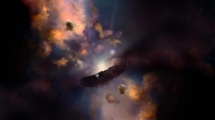 Quasar Surrounded by Torus