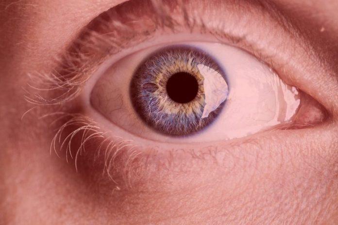 Eye Close Up Red Light