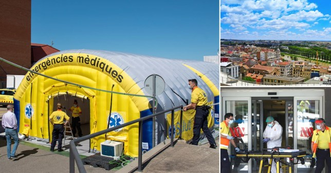 Spanish region put on lockdown after spike in coronavirus cases Pics: Getty/Reuters/EPA
