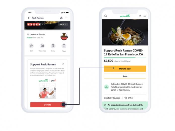Yelp hits brakes on GoFundMe button for helping businesses during coronavirus lockdown