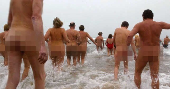 Mandatory Credit: Photo by Sipa/REX (567500b) Swimmers entering the sea for the last annual swim SOME 100 SWIMMERS TOOK PART IN THE LAST SWIM OF THE YEAR IN THE SEA AT CAP D'AGDE, SOUTH WEST FRANCE - 31 DEC 2005