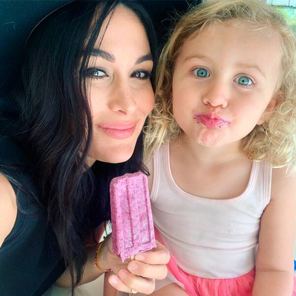 Brie Bella Shares Adorable Family Photo One Week After Giving Birth to Her Baby Boy - E! Online
