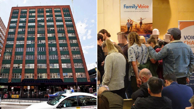 Adelaide head office of Family Voice Australia and event held by the Conservative Christian organisation