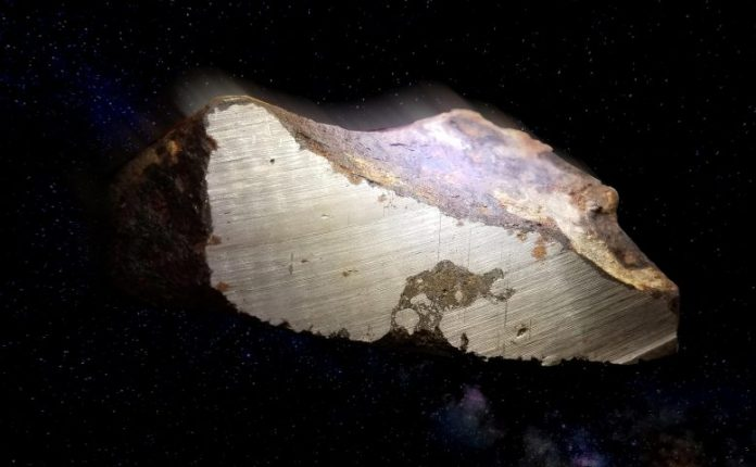Rare Layered Meteorite Sample