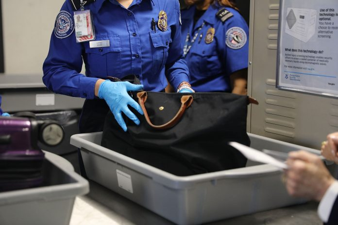 July air travel down 75% from 2019 but gun confiscation rates triple