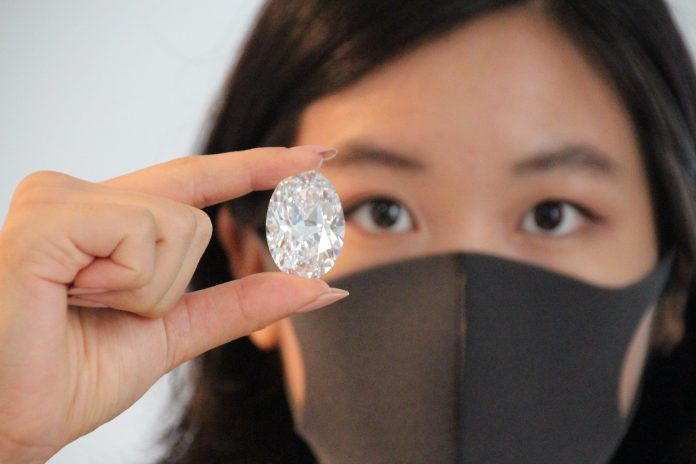 102-carat 'perfect' diamond may set record at Sotheby's online auction