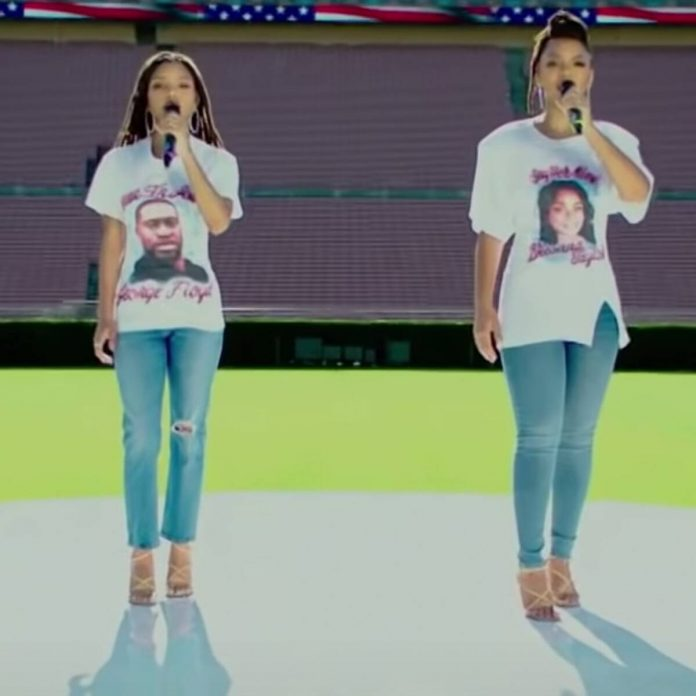 Chloe x Halle Honor George Floyd and Breonna Taylor During NFL Kickoff - E! Online