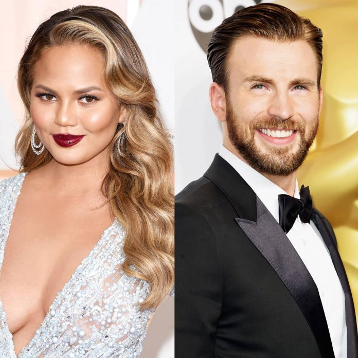 Chrissy Teigen Relates to Chris Evans, Saying She Saves NSFW Pics - E! Online