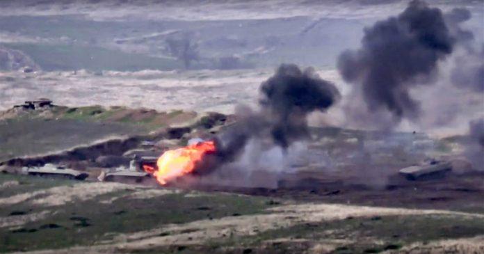 Fighting erupts between Armenia and Azerbaijan over disputed Nagorny Karabakh region