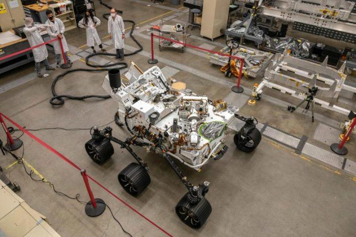 NASA Perseverance Mars Rover Twin Testing