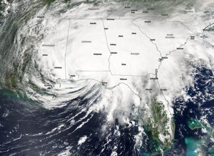 NASA Aqua Satellite Hurricane Sally