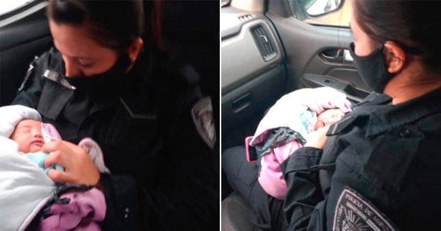 Newborn baby found abandoned in plastic bag with knife in her back
