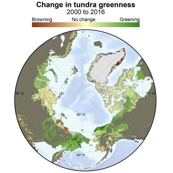 Change in Tundra Greenness