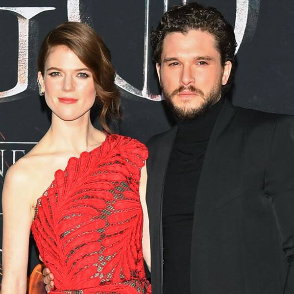 Rose Leslie Shows Off Her Baby Bump During Walk With Kit Harington - E! Online