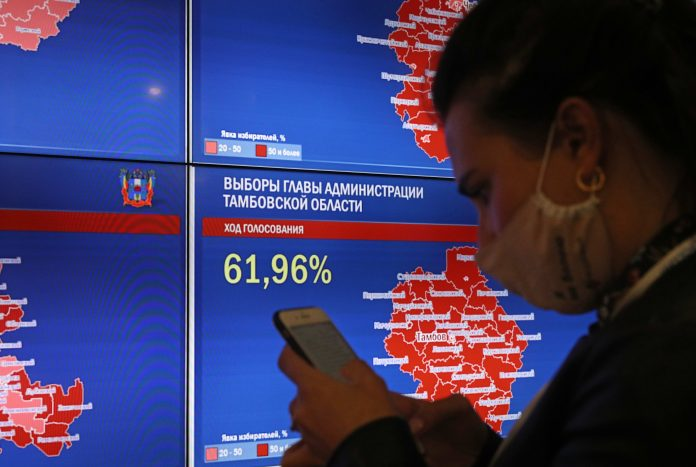Russia's pro-Kremlin party claims victory in regional elections