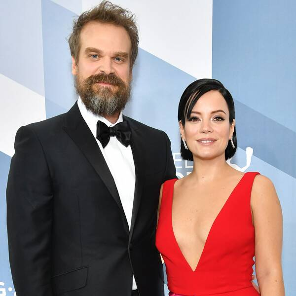 See Lily Allen's Dior Bridal Gown From Wedding to David Harbour - E! Online