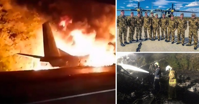 Military plane carrying air force cadets crashes in Ukraine killing 26