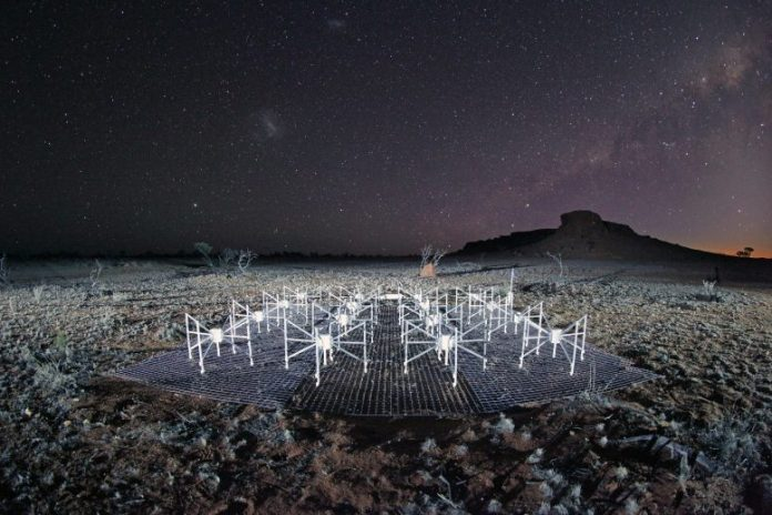 Murchison Widefield Array Radio Telescope Night