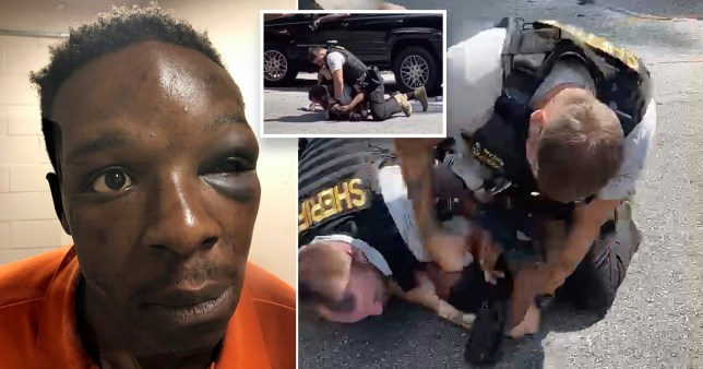 Roderick Walker was restrained and beaten by a police officer
