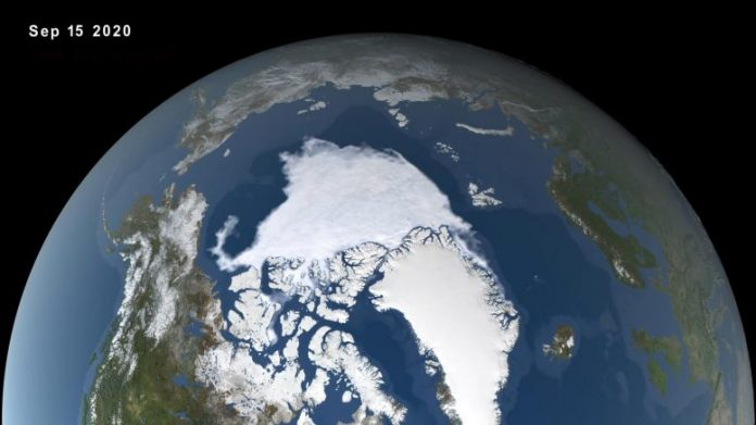 Arctic Sea Ice Minimum September 15 2020