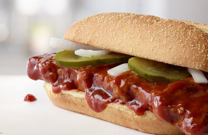 McRib returns to McDonald's nationwide for the first time since 2012