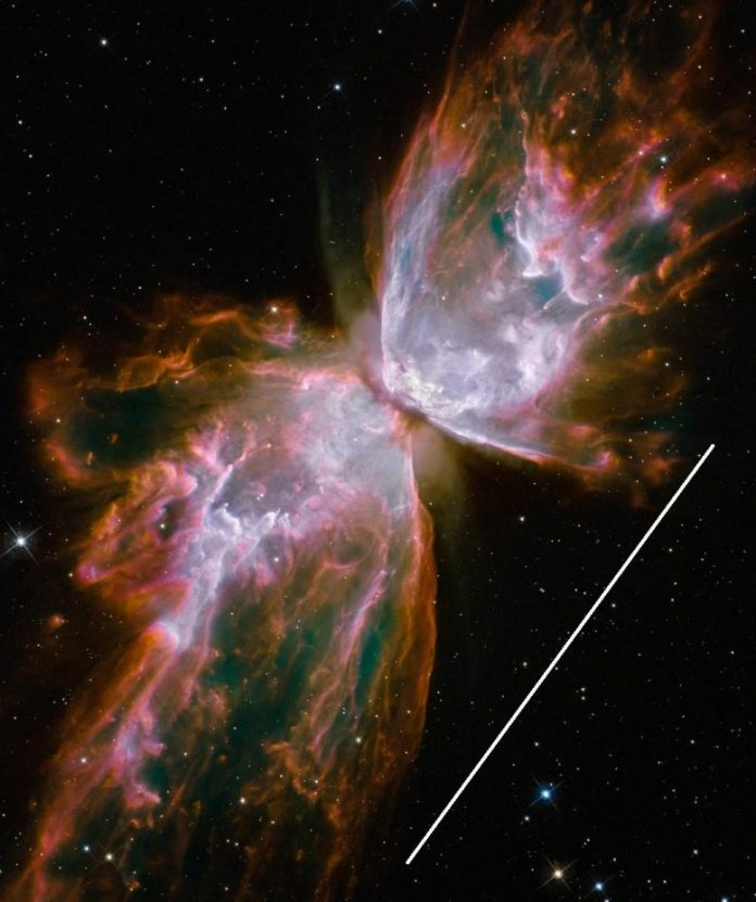 Butterfly Nebula With Scale