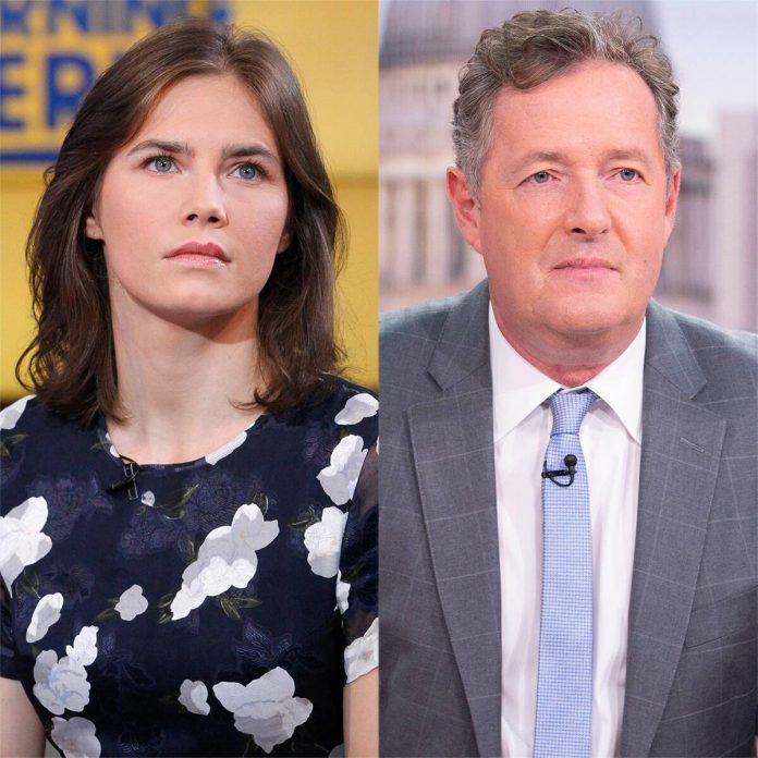 "Amanda Knox Slams ""Pathetic"" Piers Morgan Over Election Remarks - E! Online"