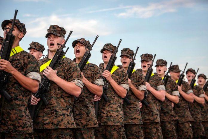 US Marine Corp Recruits