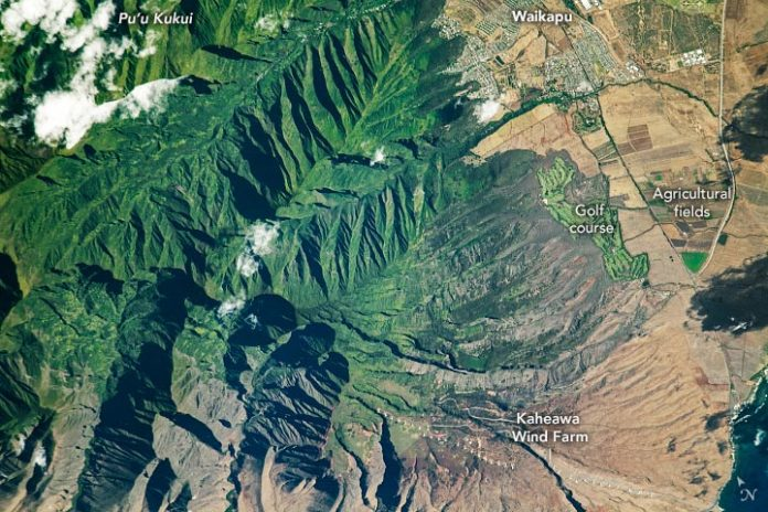 Kaheawa Wind Farm Maui Annotated