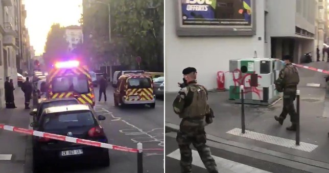 Composite image scene in Lyon