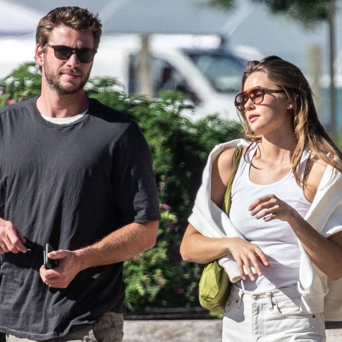 Gabriella Brooks and Liam Hemsworth Get Cozy in New Family Photo - E! Online