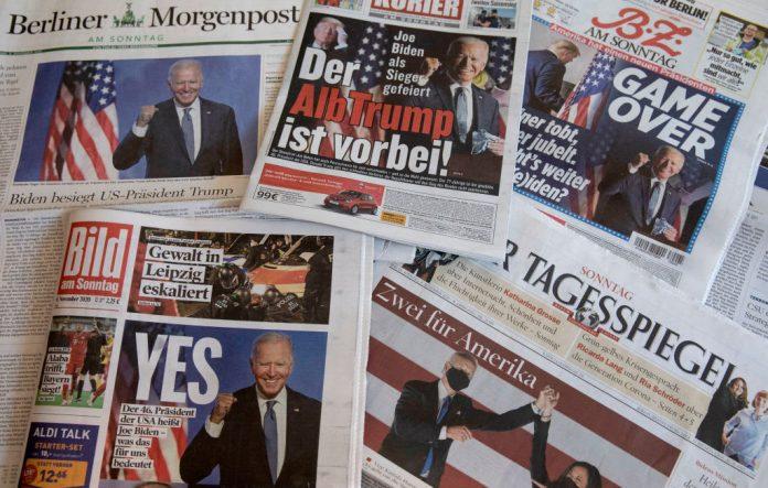 How the world media is reacting to Joe Biden's win