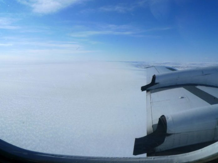 Greenland Ice Sheet View From Above