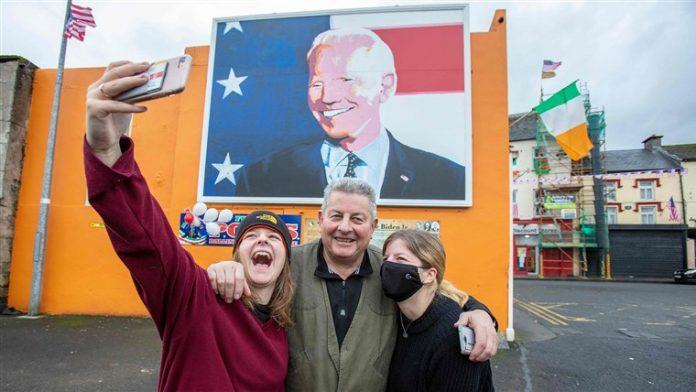 Joe Biden's Irish ancestral hometown Ballina revels in win, as London grows uneasy over Brexit