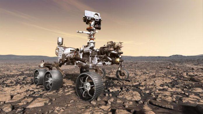 NASA's Mars 2020 Rover Studying Its Surroundings