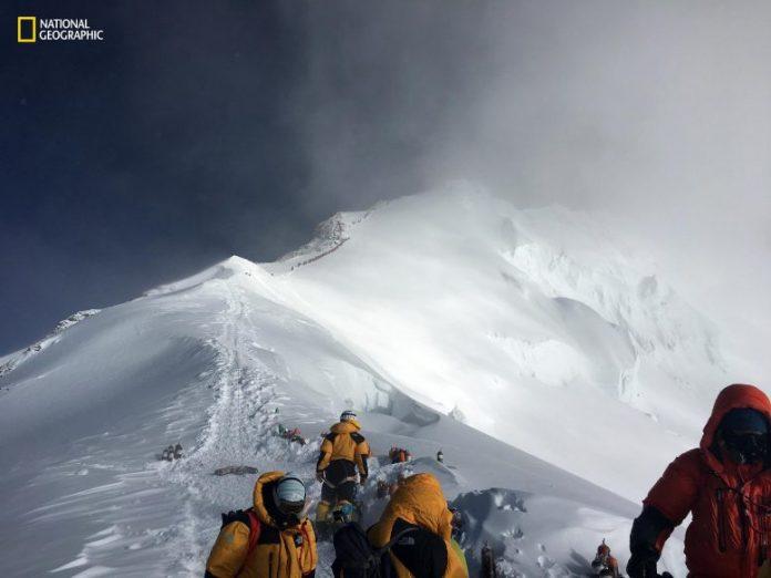 Microplastics on Mount Everest