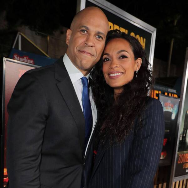 No One Is Prouder of Cory Booker's Senate Win Than Rosario Dawson - E! Online