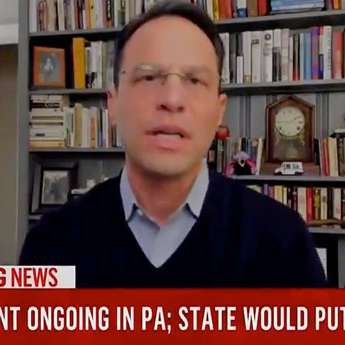 Pa. AG Josh Shapiro Reacts After His Son Crashes Election Interview - E! Online