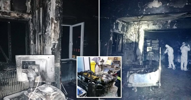 Seven people have died after a fire at a Romanian intensive care ward where Covid-19 patients were receiving treatment.