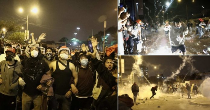 Protests in Peru.