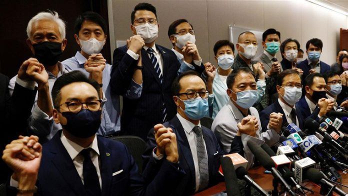 U.S. threatens Beijing with new sanctions over Hong Kong lawmaker suspensions