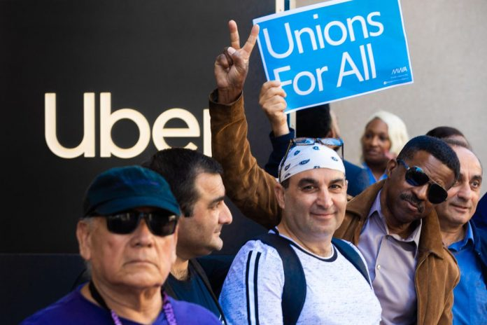 uber-driver-ride-sharing-protest-unions7813