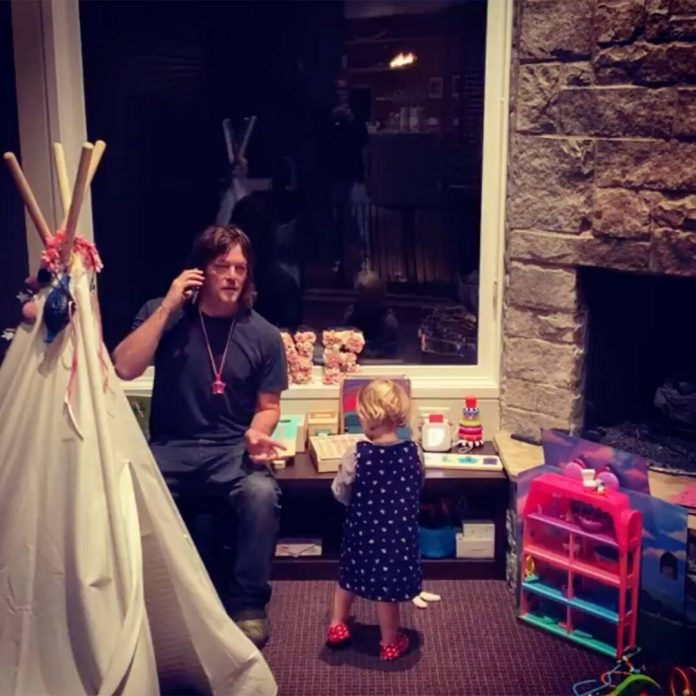 Watch Norman Reedus Help His and Diane Kruger's Daughter With Her ABCs - E! Online